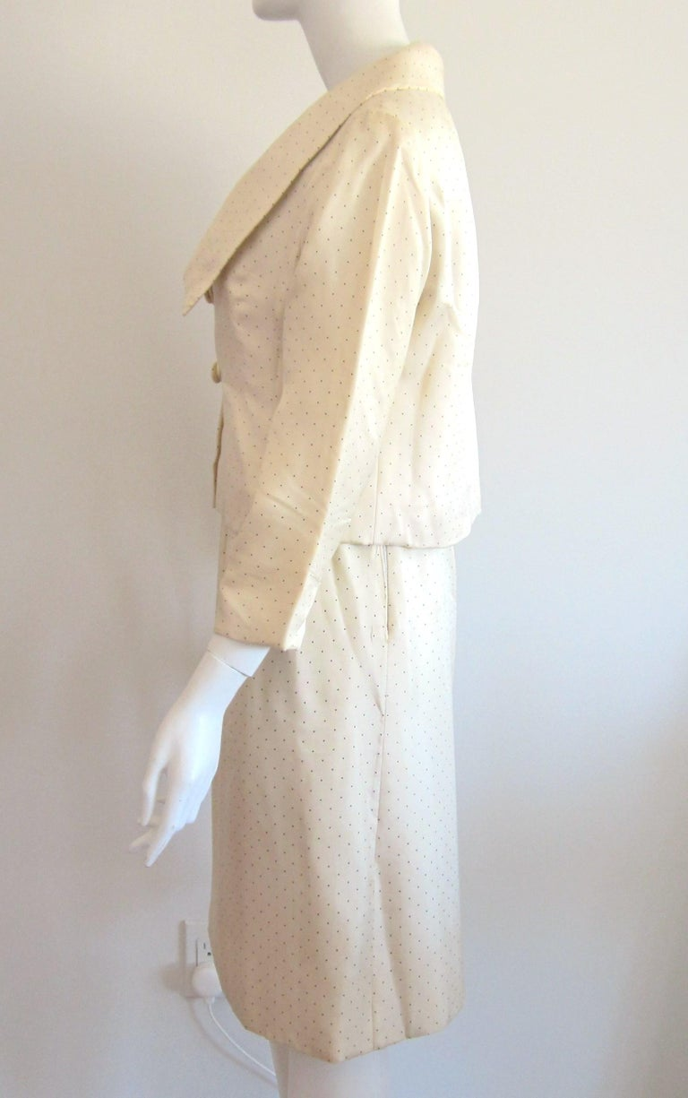 Women's 1964 Christian Dior 2 Piece Marc Bohan Dress - Jacket Suit Numbered 123094 For Sale