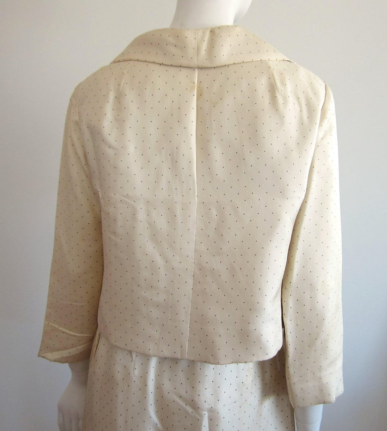 1964 Christian Dior 2 Piece Marc Bohan Dress - Jacket Suit Numbered 123094 For Sale 1