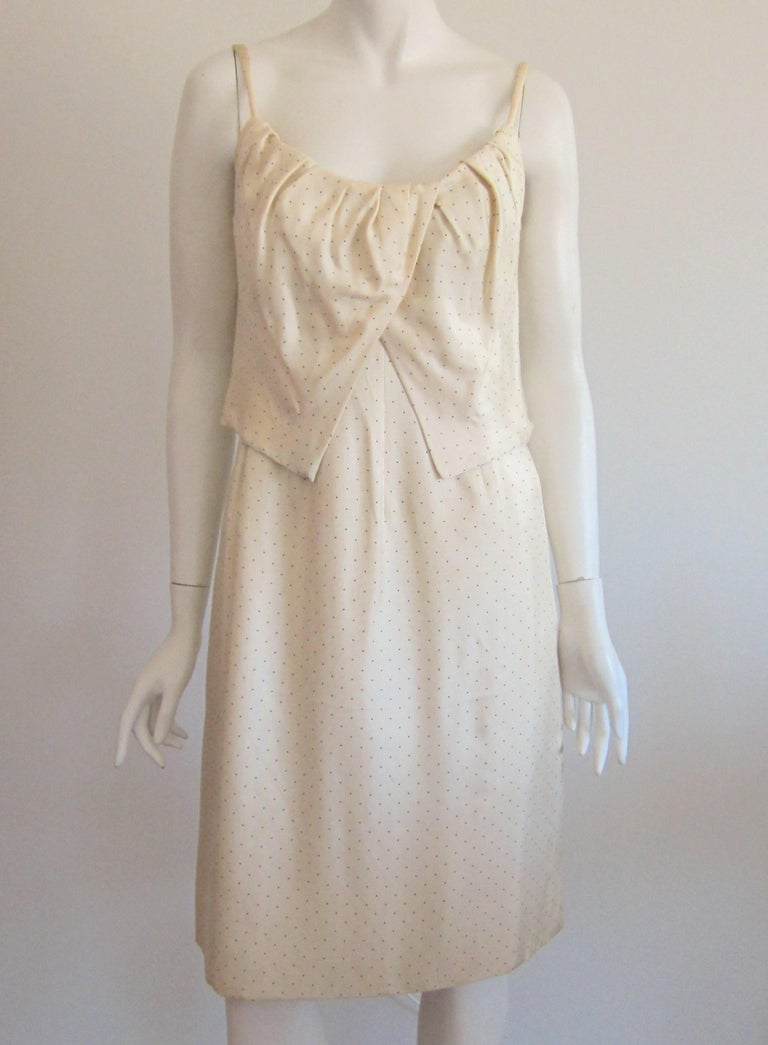 1964 Christian Dior 2 Piece Marc Bohan Dress - Jacket Suit Numbered 123094 For Sale 4