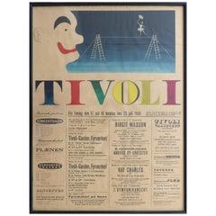1964 Concert Poster from the Tivoli Gardens in Copenhagen, Denmark