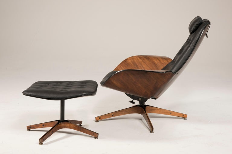 1964 Mr. Chair II by George Mulhauser for Plycraft and Ottoman For Sale 5