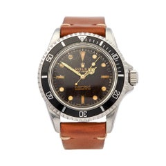 1964 Rolex Submariner Tropical Dial Stainless Steel 5513 Wristwatch