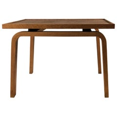 1965 Arne Jacobsen Oak Footstool-Sidetable for Saint Catherine's College