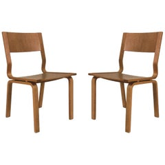 1965 Arne Jacobsen Set of Two Saint Catherines Chairs in Laminated Oak