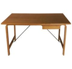 1965 Danish Arne Jacobsen Saint Catherines Desk in Oak by Fritz Hansen