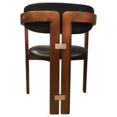1965 Italy Pamplona Walnut Armchair by Augusto Savini Mid-Century Modern Design