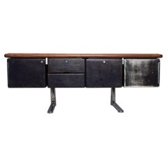 1965 Massive Executive Leather Sideboard Credenza by Warren Platner for Knoll