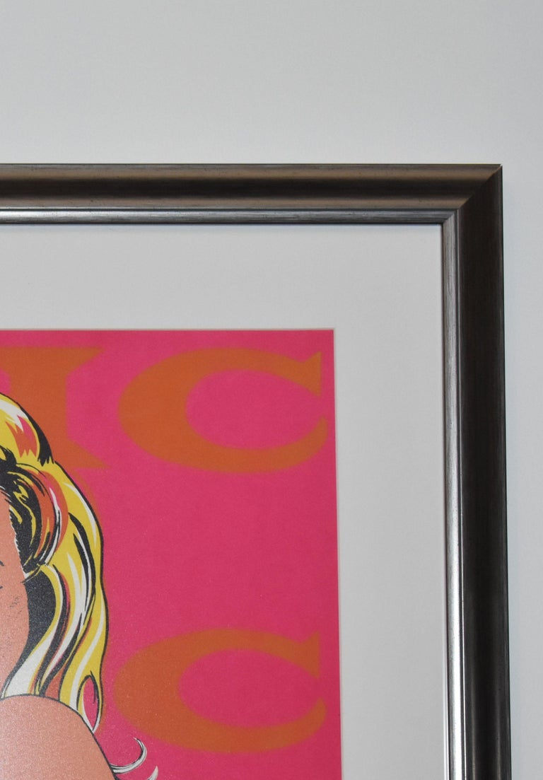 Modern 1965 Mel Ramos Color Lithograph Title