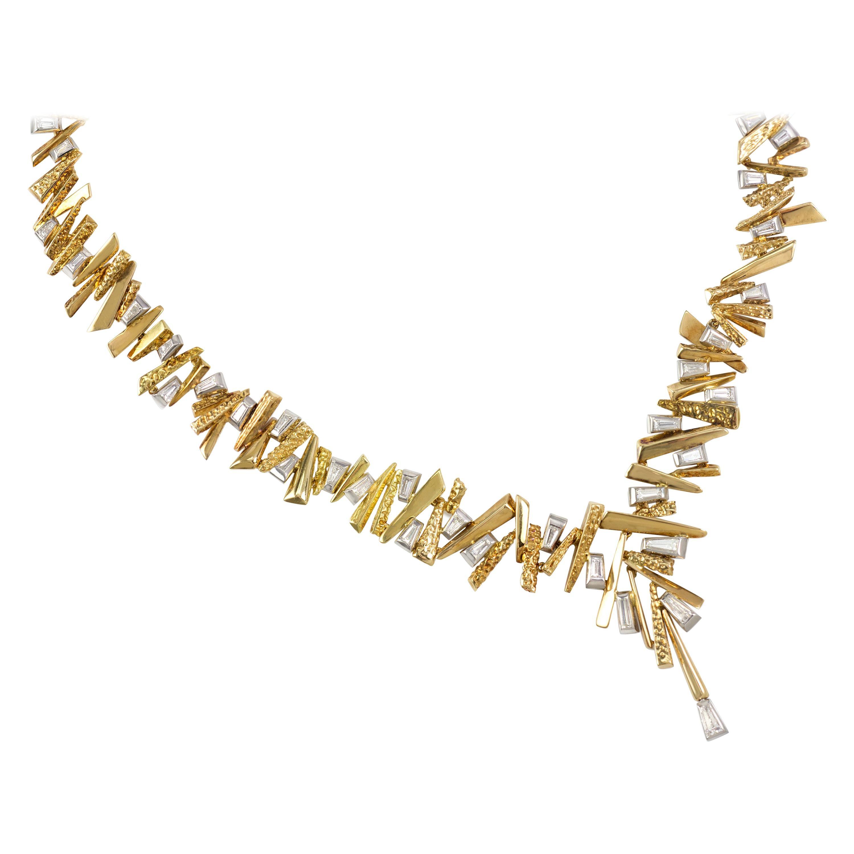 1966 David Morris Diamond and Gold Necklace