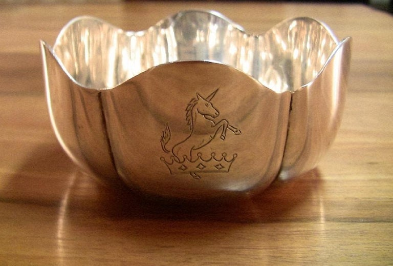 1966 Irish Sterling Silver Bowl for 50th Anniversary of 1916 Rising In Excellent Condition For Sale In Dallas, TX