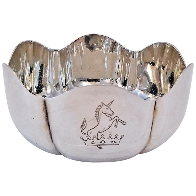 1966 Irish Sterling Silver Bowl for 50th Anniversary of 1916 Rising For Sale