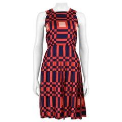 1966 Philippe Venet Haute Couture Silk Geometric Cocktail Dress, Documented