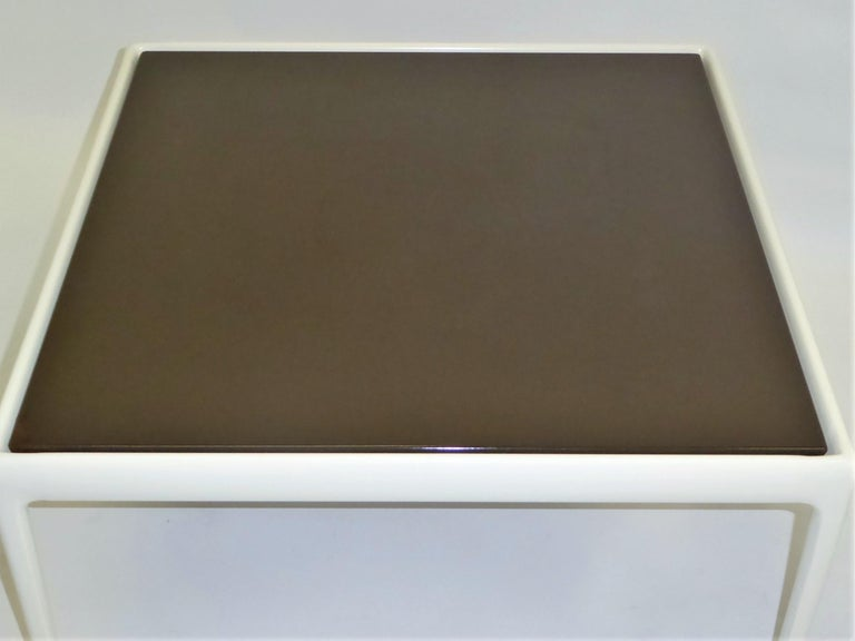 American 1966 Richard Schultz Collection for Knoll Coffee Side Table in Brown For Sale