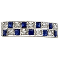 1966 Sapphire and Diamond White Gold Dress Ring