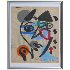 Peter Robert Keil 1967 Abstract Mixed Media Painting, Spain