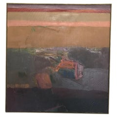 1967 Abstract Oil Painting by James Nathan Fisher, Framed