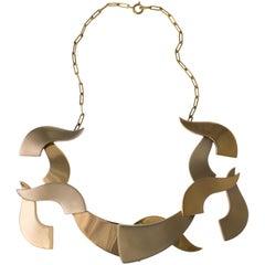 1967 Art Jewel Hans Richter Gold Articulated Necklace