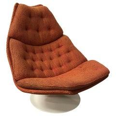 1967, Geoffrey Harcourt for Artifort, Model F 590 in Brick or Terra Fabric
