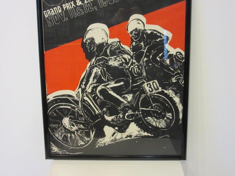 Mid-Century Modern 1967 Hopetown International Moto Cross Poster by Earl Newman For Sale