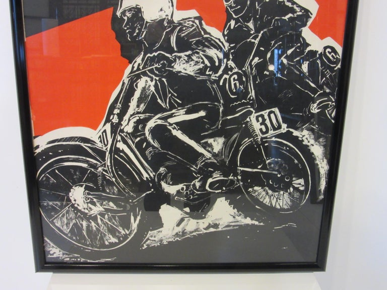 20th Century 1967 Hopetown International Moto Cross Poster by Earl Newman For Sale