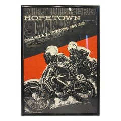 1967 Hopetown International Moto Cross Poster by Earl Newman