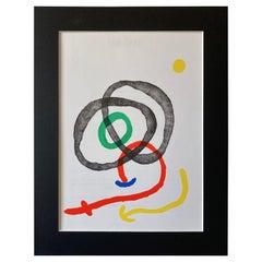 1967 Joan Miro Lithograph for Derriere le Miroir, No. 169, Paris