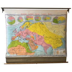 1968 Ancient World School Map