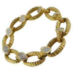 1968 Boucheron Yellow Gold and Diamond Serpent Bohème Bracelet