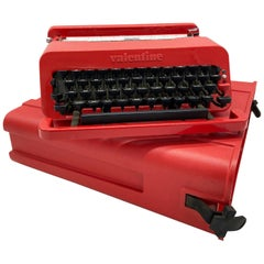 """1968, Ettore Sottsas & Perry King for Olivetti, Italy, Red """"Valentine"""" Typewrite"""