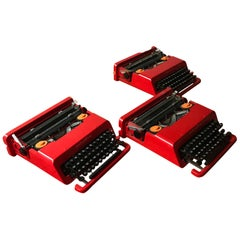 1968, Ettore Sottsas & Perry King for Olivetti, Italy, Red Valentine Typewriter