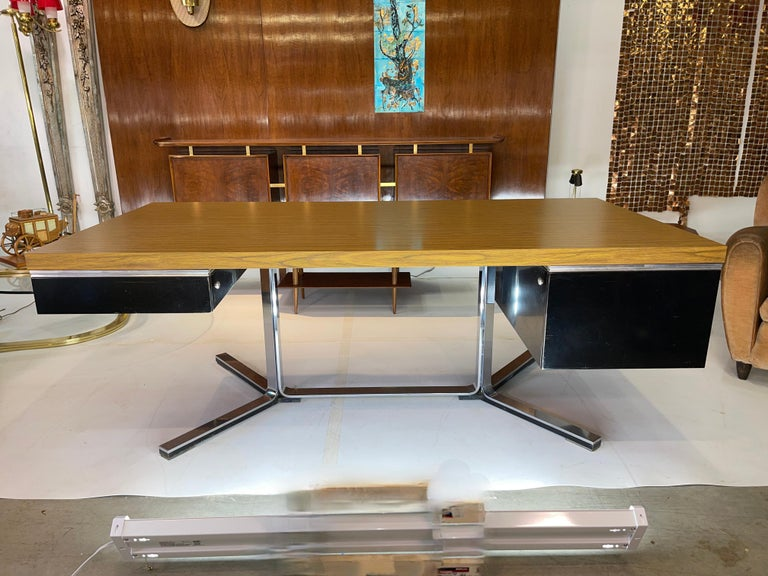 Mid-Century Modern 1968 Executive Desk For Sale
