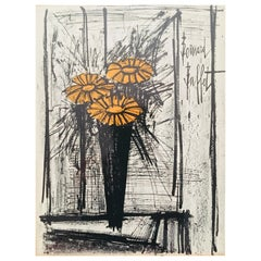 1968 Flower Arrangement Lithograph by Bernard Buffet