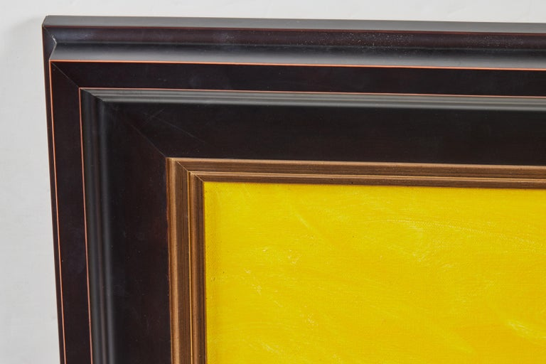 Vibrant, hand-painted, acrylic on canvas artwork by notable American artist, Jack Roth (1927-2004). Signed,