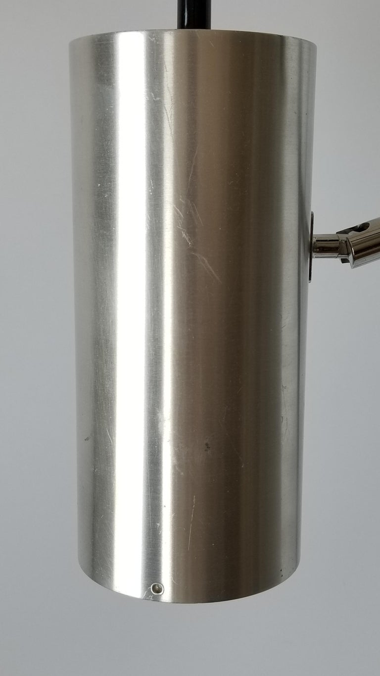 1968 Maria Pergay Twin Stainless Steel Shade Floor Lamp, France For Sale 5