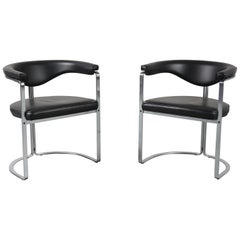 1968 Pair of Horst Brüning Dining Chairs for Kill Int., Germany