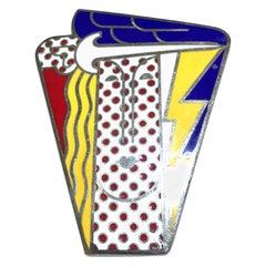 1968 Roy Lichtenstein Pop Art Brooch