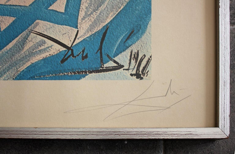 Paper 1968 Salvador Dali Hand Signed & Numbered Aliyah The Birth of Israel Lithograph For Sale