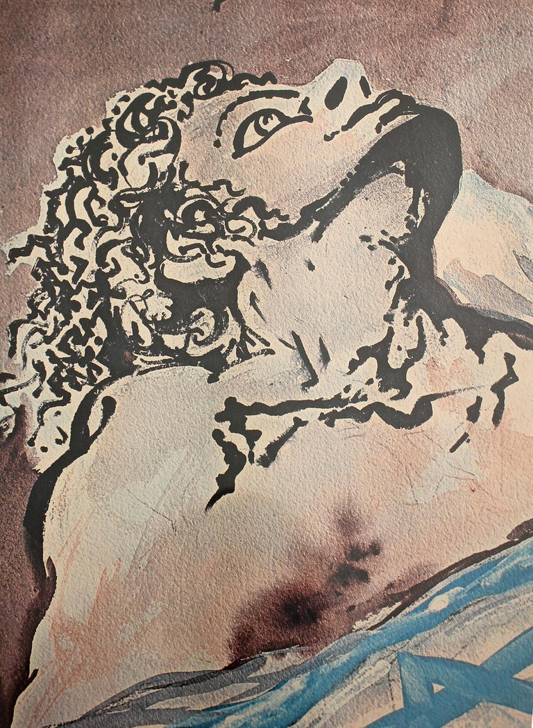 1968 Salvador Dali Hand Signed & Numbered Aliyah The Birth of Israel Lithograph For Sale 2
