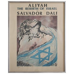 1968 Salvador Dali Hand Signed & Numbered Aliyah The Birth of Israel Lithograph