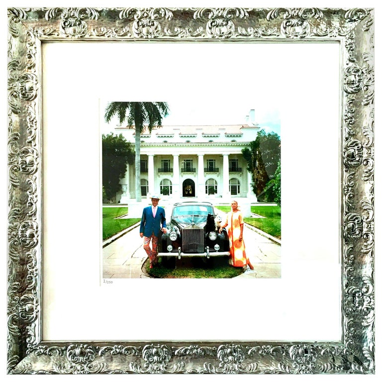 """1968 Slim Aarons Photograph """"Donald Leas Palm Beach"""" Estate Stamped LE 2/150 For Sale"""