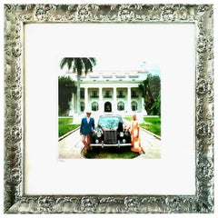 """1968 Slim Aarons Photograph """"Donald Leas Palm Beach"""" Estate Stamped LE 2/150"""