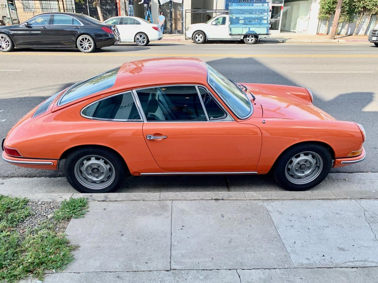 German 1968 Tangerine Porsche 912 For Sale