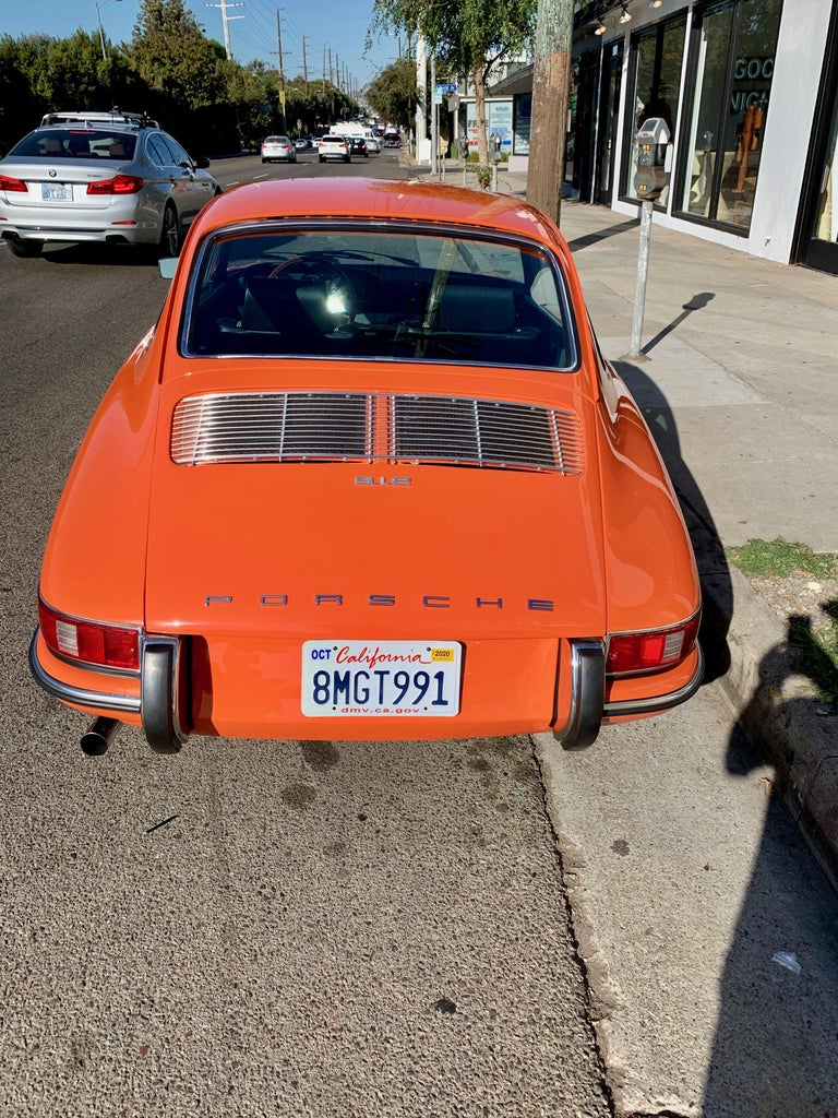 Steel 1968 Tangerine Porsche 912 For Sale