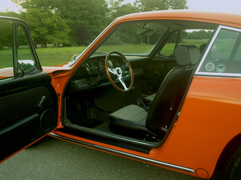 1968 Tangerine Porsche 912 For Sale 2