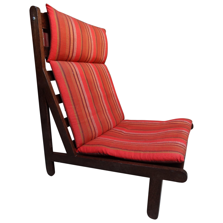 1968 Vintage Danisch Bernt Petersen ''The Rag'' orange fabric chair