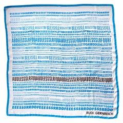 1968 Vintage Rudi Gernreich Silk Alphabet Scarf Iconic Peggy Moffitt
