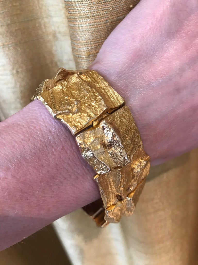 1969 Björn Weckstrom for Lapponia Gold Bracelet In Excellent Condition For Sale In New York, NY