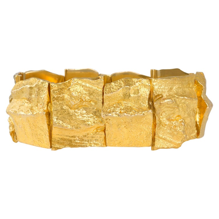 1969 Björn Weckstrom for Lapponia Gold Bracelet For Sale