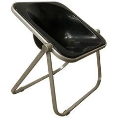 1969, Giancarlo Piretti for Castelli, Very Rare Black Plona Folding Deck Chair
