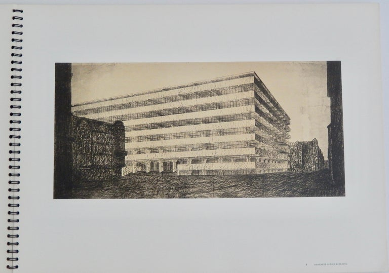 American 1969 Ludwig Mies van der Rohe/ Folio of Architectural Drawings/MOMA For Sale